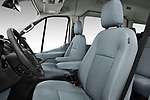 Front seat view of a 2019 Ford Transit Wagon 350 XLT Wagon Med Roof Sliding Pass. 148 5 Door Passenger Van front seat car photos