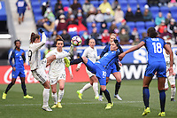 Harrison, NJ - Saturday, March 04, 2017: Felicitas Rauch, Camille Abily during a SheBelieves Cup match between the women's national teams of France (FRA) and Germany (GER) at Red Bull Arena.