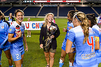 Chicago, IL - Saturday July 30, 2016: Lori Chalupny, Chicago Red Stars after a regular season National Women's Soccer League (NWSL) match between the Chicago Red Stars and FC Kansas City at Toyota Park.