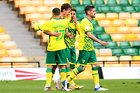 1st May 2021; Carrow Road, Norwich, Norfolk, England, English Football League Championship Football, Norwich versus Reading; Kieran Dowell of Norwich City celebrates with team mates after he scores for 2-1 in the 64th minute