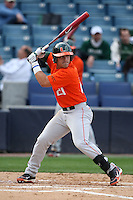 March 2, 2010:  First Baseman Rony Rodriguez of the Miami Hurricanes during a game at Legends Field in Tampa, FL.  Photo By Mike Janes/Four Seam Images