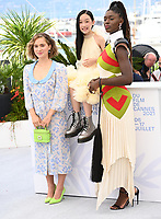 CANNES, FRANCE. July 8, 2021: Jodie Turner-Smith, Haley Lu Richardson, Malea Emma Tjandrawidjaja at the photocall for After Yang at the 74th Festival de Cannes.<br /> Picture: Paul Smith / Featureflash