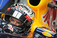 Redbull Renault  driver Sebastian Vettel .24/03/2012 Grand Prix Malesia, Sepang , Essais..Foto Insidefoto  /Bernard Asset / Panoramic.ITALY ONLY..
