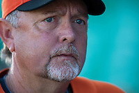 11 March 2009: Coach Bert Blyleven of the Netherlands answers journalists during batting practice prior to  the 2009 World Baseball Classic Pool D game 6 at Hiram Bithorn Stadium in San Juan, Puerto Rico. Puerto Rico wins 5-0 over the Netherlands