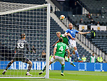 St Johnstone v Hibs…22.05.21  Scottish Cup Final Hampden Park<br />Shaun Rooney scores his goal<br />Picture by Graeme Hart.<br />Copyright Perthshire Picture Agency<br />Tel: 01738 623350  Mobile: 07990 594431