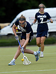 GER - Hannover, Germany, May 30: During the Women Lacrosse Playoffs 2015 match between HLC Rot-Weiss Muenchen (blue) and Dresden Braves (khaki) on May 30, 2015 at Deutscher Hockey-Club Hannover e.V. in Hannover, Germany. Final score 23:1. (Photo by Dirk Markgraf / www.265-images.com) *** Local caption ***