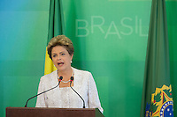 BRASILIA, DF, 02.10.2015 - DILMA-REFORMA -  A presidente Dilma Rousseff, durante a declaração sobre a  reforma administrativa do<br /> Governo Federal, nesta sexta-feira, no <br /> Palácio do Planalto.(Foto:Ed Ferreira / Brazil Photo Press)
