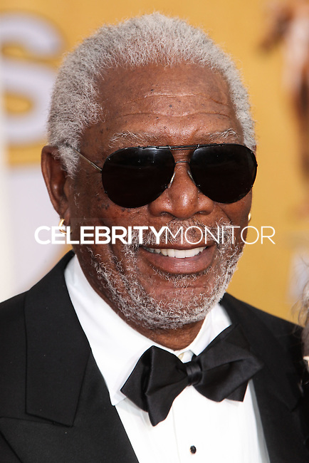LOS ANGELES, CA - JANUARY 18: Morgan Freeman at the 20th Annual Screen Actors Guild Awards held at The Shrine Auditorium on January 18, 2014 in Los Angeles, California. (Photo by Xavier Collin/Celebrity Monitor)