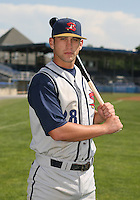 2007:  Bobby Spain of the State College Spikes poses for a photo prior to a game vs. the Batavia Muckdogs in New York-Penn League baseball action.  Photo By Mike Janes/Four Seam Images
