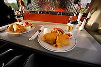 The Alaska Railroad's Coastal Classic train features a full menu, including hearty breakfast burritos on the Goldstar first-class service.