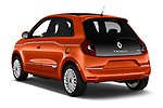 Car pictures of rear three quarter view of 2021 Renault Twingo-Electric Vibes 5 Door Hatchback Angular Rear