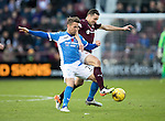 Hearts v St Johnstone…05.11.16  Tynecastle   SPFL<br />Chris Millar and Don Cowie<br />Picture by Graeme Hart.<br />Copyright Perthshire Picture Agency<br />Tel: 01738 623350  Mobile: 07990 594431