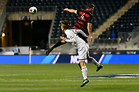 Chester, PA - Friday December 08, 2017: Skye Harter, Tomas Hilliard-Arce The Stanford Cardinal defeated the Akron Zips 2-0 during an NCAA Men's College Cup semifinal match at Talen Energy Stadium.