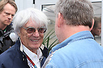 Bernie Ecclestone, CEO of Formula One Mangement Limited (FOM) does an interview before the Formula 1 United States Grand Prix practice session at the Circuit of the Americas race track in Austin,Texas.