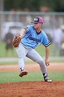 Connor Skertich (7) during the WWBA World Championship at the Roger Dean Complex on October 12, 2019 in Jupiter, Florida.  Connor Skertich attends Notre Dame High School in Agoura Hills, CA and is Uncommitted.  (Mike Janes/Four Seam Images)