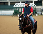 LOUISVILLE, KY - APRIL 28: Norman Casse, assitant trainer for Mark Casse, whose horse Fellowship is preparing for the Kentucky Derby at Churchill Downs, Louisville, KY. (Photo by Mary M. Meek/Eclipse Sportswire/Getty Images)