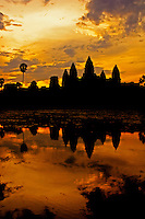 Angkor Wat at Sunrise, Siem Reap Cambodia