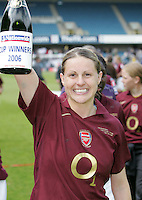 Arsenal vs Leeds United - Womens FA Cup Final at Millwall Football Club - 01/05/06 - Kelly Smith celebrate the Gunners victory - (Gavin Ellis 2006)