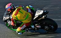 David Sadowski Jr. (45) is shown in action during the Daytona 200 motorcycle race at Daytona International Speedway, Daytona Beach, FL, March 2011.(Photo by Brian Cleary/www.bcpix.com)