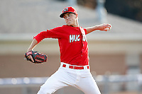 June 19, 2009:  Pitcher Kevin Siegrist of the Batavia Muckdogs delivers a pitch during a game at Dwyer Stadium in Batavia, NY.  The Muckdogs are the NY-Penn League Short-Season Class-A affiliate of the St. Louis Cardinals.  Photo by:  Mike Janes/Four Seam Images
