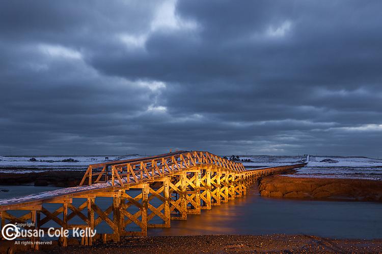 The Sandwich boardwalk to Town Neck Beach in Sandwich, Cape Cod, MA, USA