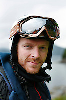 Base jumper Espen Fadnes.World BASE Race held in Innfjorden, Norway, where BASE jumpers in wingsuits compete in flying down the mountain. The winner is called the World's Fastest Flying Human Being..©Fredrik Naumann/Felix Features.
