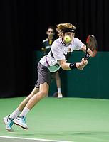 Rotterdam, Netherlands, 9 februari, 2019, Ahoy, Tennis, ABNAMROWTT, ANDREY RUBLEV (RUS) Photo: Henk Koster/tennisimages.com