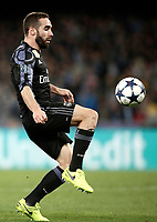 Football Soccer: UEFA Champions League Round of 16 second leg, Napoli-Real Madrid, San Paolo stadium, Naples, Italy, March 7, 2017. <br /> Real Madrid's Daniel Carvajal in action during the Champions League football soccer match between Napoli and Real Madrid at the San Paolo stadium, 7 March 2017. <br /> Real Madrid won 3-1 to reach the quarter-finals.<br /> UPDATE IMAGES PRESS/Isabella Bonotto