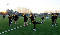Photo: Richard Lane/Richard Lane Photography. Wasps team run at Stadio Sergio Lanfranchi ahead of their European Champions Cup game against Zebre at Parma. 21/01/2017. Wasps' James Haskell returns after injury.