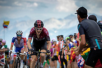 Geraint Thomas (GBR/Ineos) up the Col du Galibier (HC/2622m/23km@5.1%)<br /> <br /> Stage 18: Embrun to Valloire (208km)<br /> 106th Tour de France 2019 (2.UWT)<br /> <br /> ©kramon