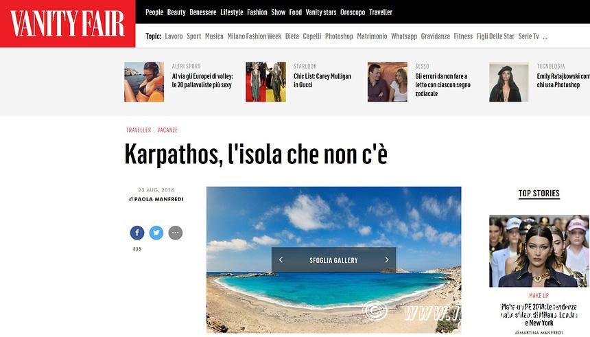 VANITY FAIR - KARPATHOS