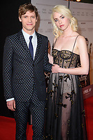 """Billy Howle and Freya Mavor<br /> arriving for the premiere of """"The Sense of an Ending"""" at the Picturehouse Central, London.<br /> <br /> <br /> ©Ash Knotek  D3244  06/04/2017"""