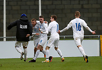 15th November 2020; Tallaght Stadium, Dublin, Leinster, Ireland; 2021 Under 21 European Championships Qualifier, Ireland Under 21 versus Iceland U21; Iceland celebrate scoring a goal in injury time to win the match 2-1