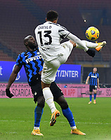 Calcio, Serie A: Inter Milano - Juventus FC , Giuseppe Meazza (San Siro) stadium, in Milan, January 17, 2021.<br /> Juventus' Danilo (r) in action with Inter's Romelu Lukaku (l) during the Italian Serie A football match between Inter and Juventus at Giuseppe Meazza (San Siro) stadium, January 17,  2021.<br /> UPDATE IMAGES PRESS/Isabella Bonotto