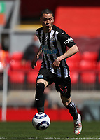 24th April 2021; Anfield, Liverpool, Merseyside, England; English Premier League Football, Liverpool versus Newcastle United; Miguel Almiron of Newcastle United runs with the ball