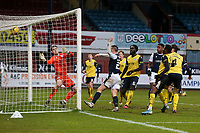 20th February 2021; Dens Park, Dundee, Scotland; Scottish Championship Football, Dundee FC versus Queen of the South; Jordan Marshall of Dundee scores for 2-3 in the 82nd minute