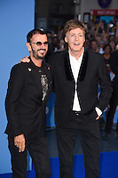 """Ringo Starr and Sir Paul McCartney<br /> at the Special Screening of The Beatles Eight Days A Week: The Touring Years"""" at the Odeon Leicester Square, London.<br /> <br /> <br /> ©Ash Knotek  D3154  15/09/2016"""
