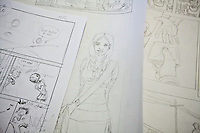 Line drawings for future issues of Shujaaz FM, a comic book printed monthly in an edition of 600,000. Studies show that an average of ten people  read each printed issue,meaning the comic reaches aproximately 6 million.