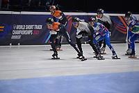 SPEEDSKATING: DORDRECHT: 07-03-2021, ISU World Short Track Speedskating Championships, Final A 5000m Relay, Jens van 't Wout (NED), Itzhak de Laat (NED), (HUN), (RSU), ©photo Martin de Jong