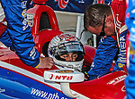 Graham Rahal (38) driver of the Service Central car, in action during the IZOD Indycar Firestone 550 race at Texas Motor Speedway in Fort Worth,Texas. Justin Wilson (18) driver of the Sonny's BBQ car wins the Firestone 550 race...