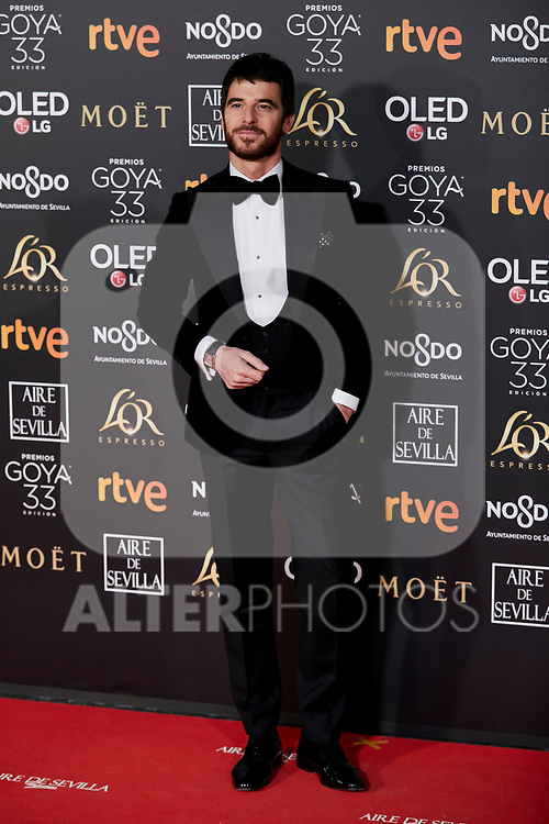 Alfonso Bassave attends to 33rd Goya Awards at Fibes - Conference and Exhibition  in Seville, Spain. February 02, 2019. (ALTERPHOTOS/A. Perez Meca)