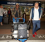 Dalcio this morning arriving at Glasgow airport for signing talks with Rangers