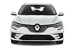 Car photography straight front view of a 2020 Renault Megane Intens 5 Door Wagon Front View