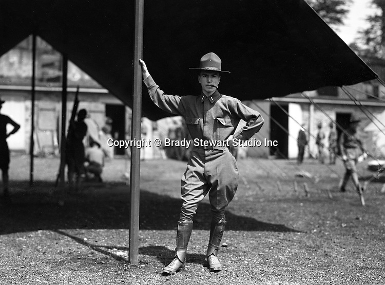 Petersburg VA:  First Lieutenant posing with a cigar,  80th Division encampment.
