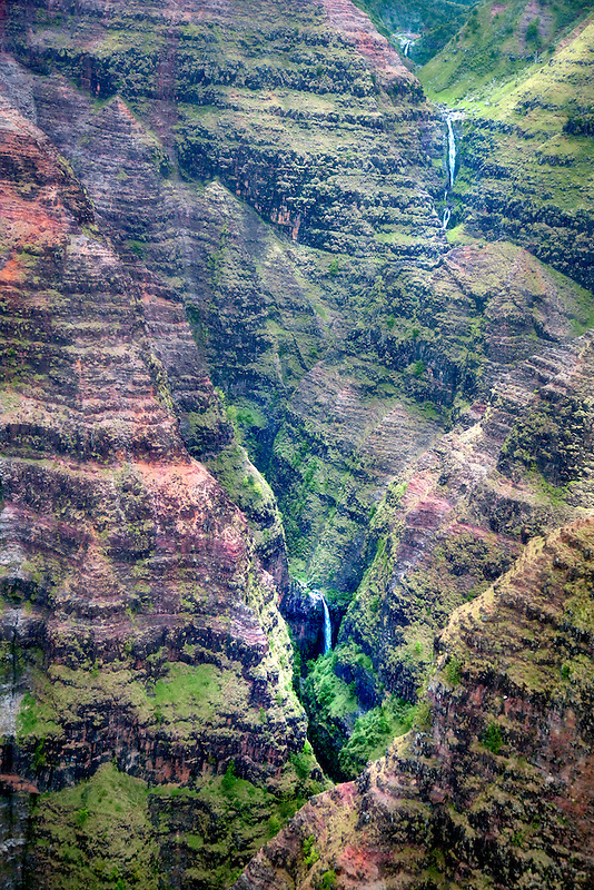 Waimea Canyon and waterfalls. Kauai, Hawaii.