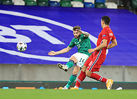 7th September 2020; Windsor Park, Belfast, County Antrim, Northern Ireland; EUFA Nations League, Group B, Northern Ireland versus Norway; Northern Ireland's Stuart Dallas crosses the ball