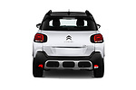 Straight rear view of a 2018 Citroen C3 Aircross Shine 5 Door SUV stock images