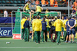 The Hague, Netherlands, June 15: The players of the Kookaburras pose for the photographers after the prize giving ceremony on June 15, 2014 during the World Cup 2014 at Kyocera Stadium in The Hague, Netherlands. (Photo by Dirk Markgraf / www.265-images.com) *** Local caption ***