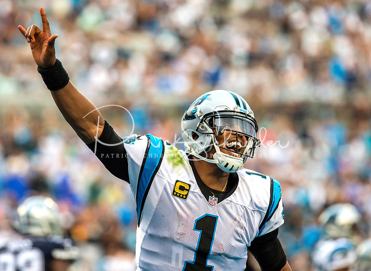 Photography of the Carolina Panthers v. The Dallas Cowboys in their NFL home season opener at Bank of America Stadium in Charlotte, North Carolina.<br /> <br /> Charlotte Photographer - PatrickSchneiderPhoto.com