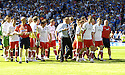 30/05/2009  Copyright  Pic : James Stewart.sct_jspa_29_rangers_v_falkirk.FALKIRK MANAGER JOHN HUGHES LEADS HIS PLAYERS TOWARD THE FANS AT THE END OF THE GAME.James Stewart Photography 19 Carronlea Drive, Falkirk. FK2 8DN      Vat Reg No. 607 6932 25.Telephone      : +44 (0)1324 570291 .Mobile              : +44 (0)7721 416997.E-mail  :  jim@jspa.co.uk.If you require further information then contact Jim Stewart on any of the numbers above.........
